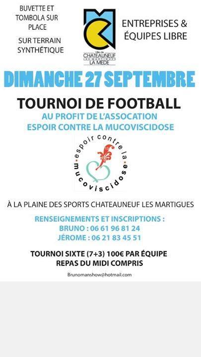 27 septembre 2015 - Tournoi de football au profit de l'association