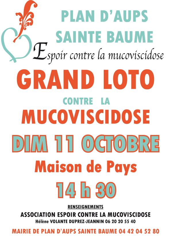 Dimanche 11 Octobre : 14h30 - Loto Maison de Pays Plan d'Aups