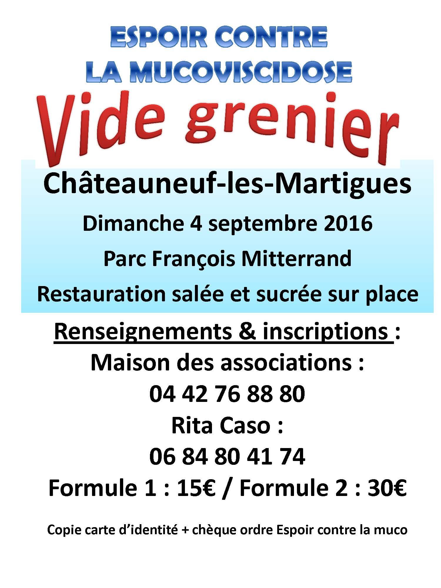 Vide grenier - 4 septembre à Châteauneuf-les-Martigues