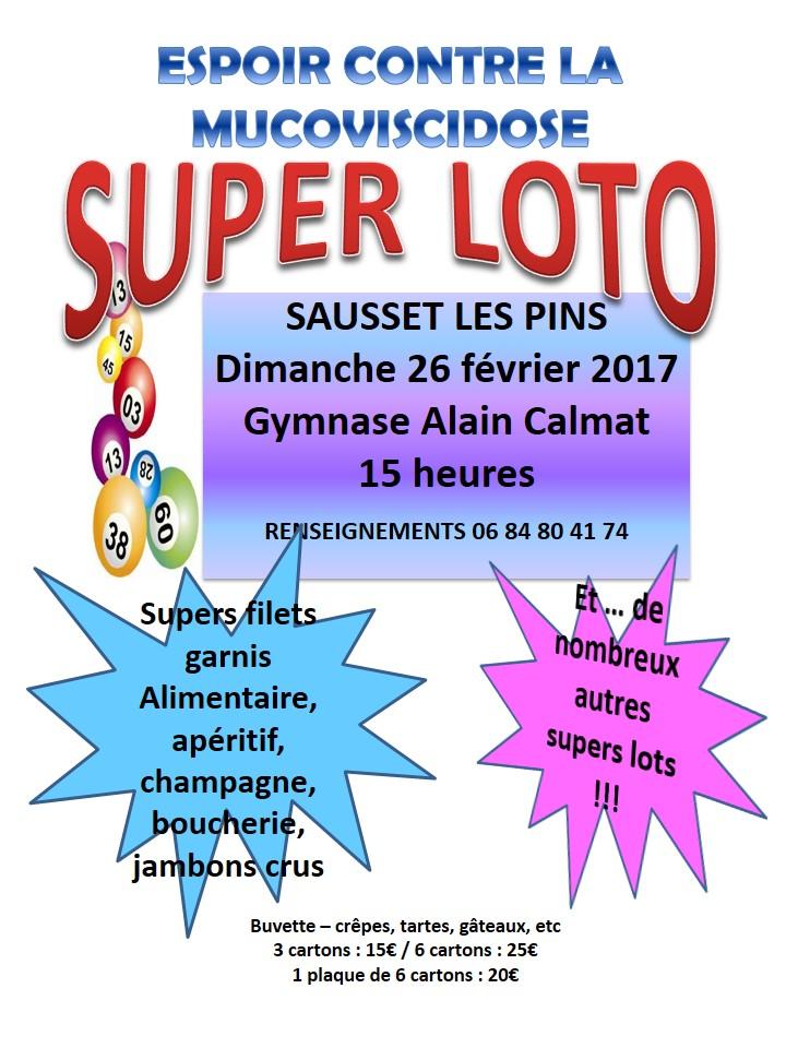 Loto à Sausset les Pins - 26 février à 15h