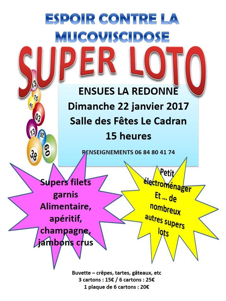 Loto à Ensuès la Redonne - 22 janvier à 15h00