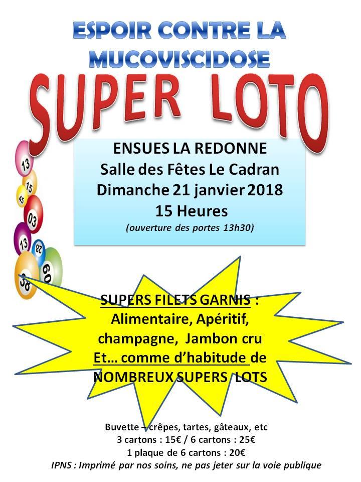 Loto à Ensuès la Redonne - 21 janvier 2018 à 15h00