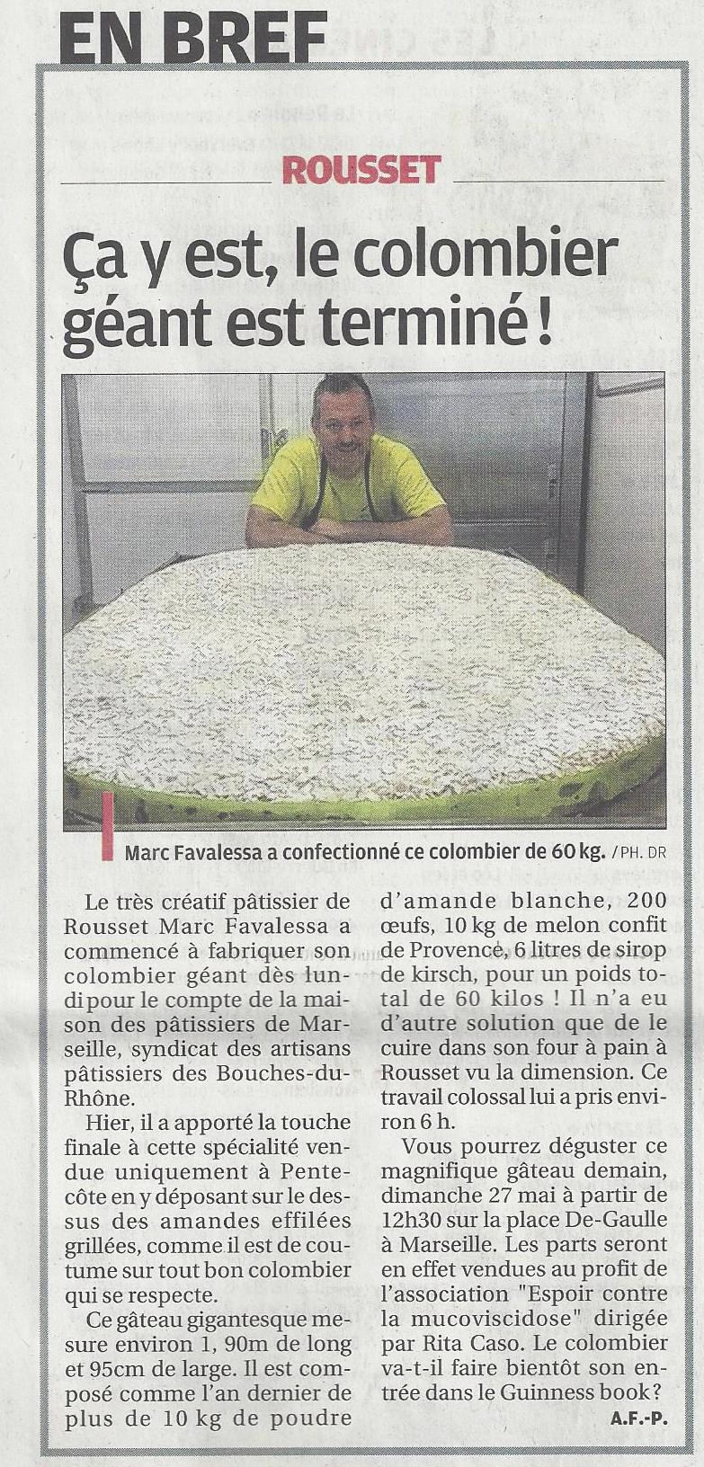 Colombier géant - 20 mai 2018