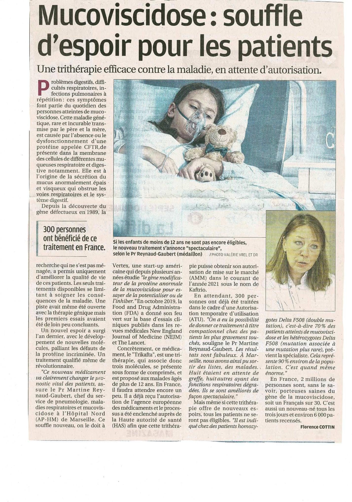 Un souffle d'espoir pour les patients